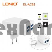 "DL-AC62""LDNIO"" USB Адаптер на 4USB 4.2A /+USB Cable iPhone 5/6/7"