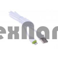 "LS07 ""LDNIO"" USB кабель 2.4A  iPhone 5/6/7, длина 1000mm ( Резина)"