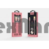"LS24 Двухсторонний металлический USB кабель iPhone 5/6/7 "" LDNIO"""