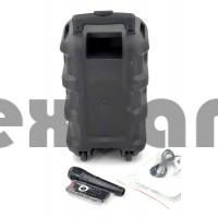 """JBK-0809 Колонка с Bluetooth/FM/SD/USB , На колесах с выдвижной ручкой (Динамик """"8"""")"""