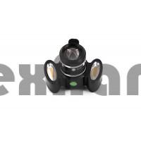 YZ-1256 LED+COB Аккумуляторный велосипедный фонарь