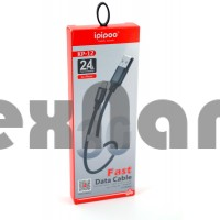 KP-12 USB Кабель iPhone 5/6/7/8 Короткий 30см iPiPoo