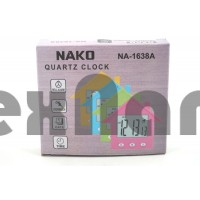 NA-1638 Часы будильник, дата, секундомер ( на магните, подставке)