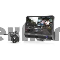 H33 Автомобильный видеорегистратор / три камеры