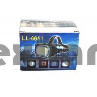 LL-6651(HT-542) COB Супер яркий аккумуляторный налобный фонарь. С SOS сигналом
