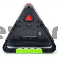 HS-8017 Аккумуляторный автомобильный фонарь, с солнечной панелью/стоп сигнал/SOS/5 Режимов свечения