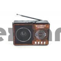 "KR-6308 ""HAIRUN"" Аккумуляторный Радиоприемник с USB/SD/ Фонарик"