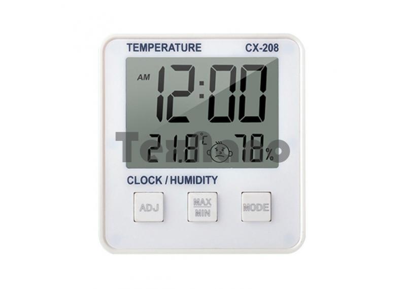 CX-208 Часы настольные электронные с термометром/влажность