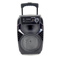 """JBK-0805 Колонка с Bluetooth/FM/SD/USB , На колесах с выдвижной ручкой (Динамик """"8"""")"""