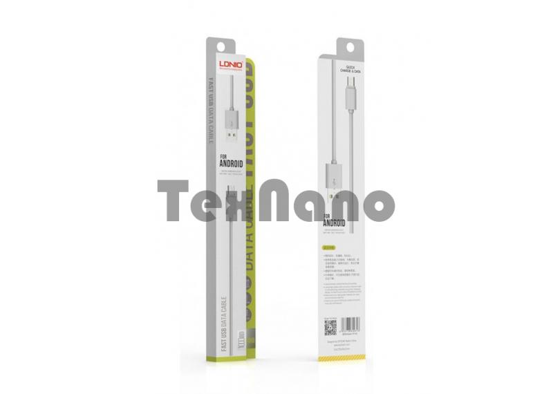 "YS-03 ""LDNIO"" USB кабель micro, длина 1000mm (Резина)"