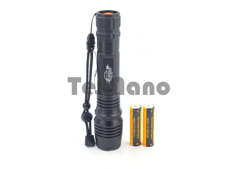 H-611-P50 Ручной аккумуляторный фонарь с зумом