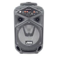 """JBK-0810 Колонка с Bluetooth/FM/SD/USB , На колесах с выдвижной ручкой (Динамик """"8"""")"""