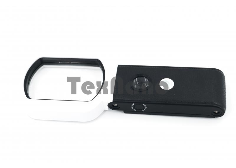 TH-7018-FX Лупа ручная с 7 LED подсветкой/10х,25х 55х85mm