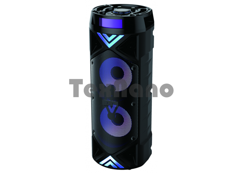 ZQS-6201 Колонка с USB+SD+радио+Bluetooth/ Микрофон в комплекте