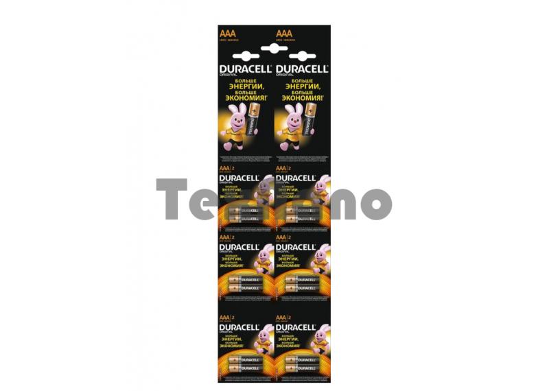 AAA Батарейка DURACELL LR03  2*6 BL12 отрывной (12/120/17280)