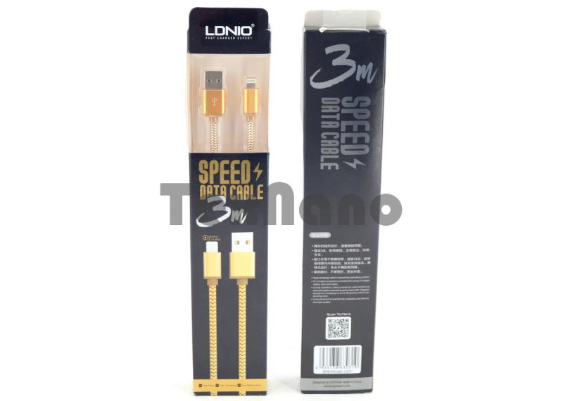 "LS31 USB Кабель iPhone 6/7/8,, ""LDNIO"" 2.4A/ 3000mm"