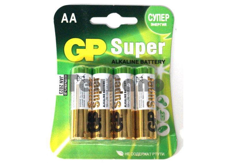 AA Super Алкалиновые батарейки (4x10=40) ( Блистер)