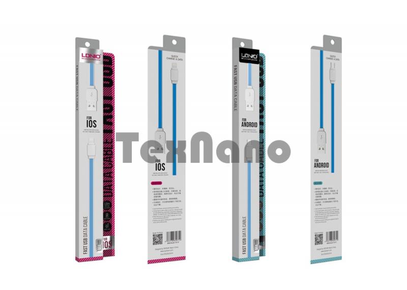 """XS-07C """"LDNIO"""" USB кабель Type-C , длина 1000mm ( Резина)"""