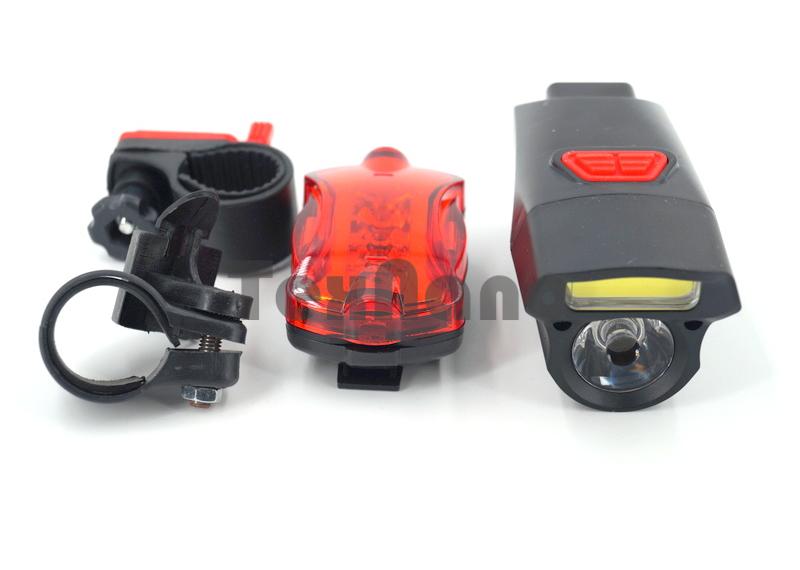 YZ-1125 Фонарь велосипедный LED+COB