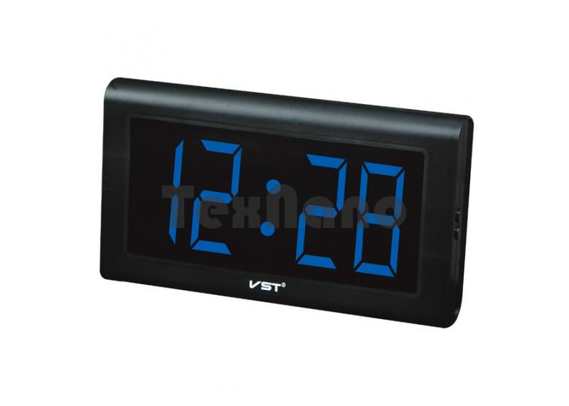 VST-795-5 Часы электронные, синие. Большие настенные