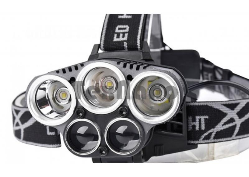 H-T476/477 Супер яркий, Аккумуляторный налобный фонарь, 5 режима свечения