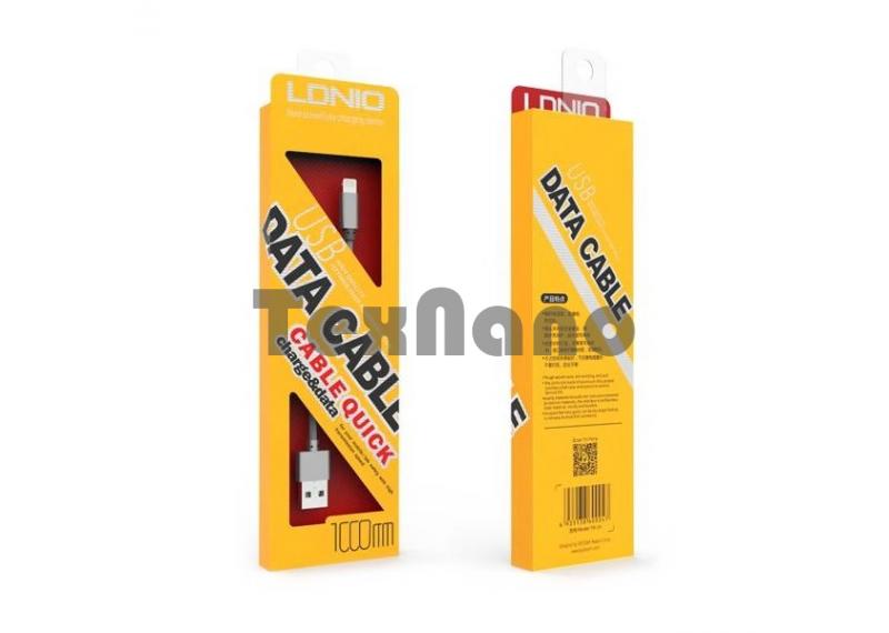 "LS08 ""LDNIO"" USB кабель iPhone 5/6/7, длина 1000mm"