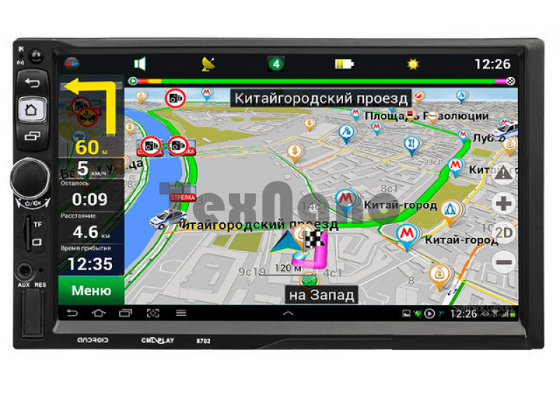 8702CA (16GB) Автомагнитола 2-DIN GPS/ANDROID /MP5/FM/SD/USB/ Bluetooth/12V