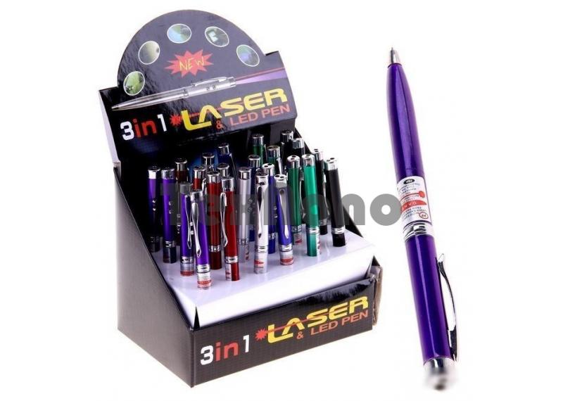 Лазерная указка ручка, 3IN1