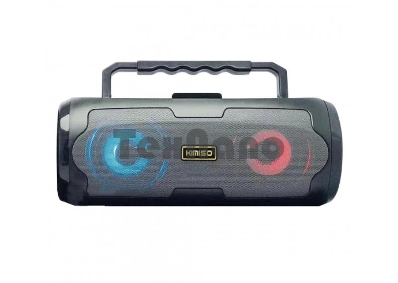 KMS-S6 Бумбокс Колонка сBluetooth/FM/SD/USB/LED(Микрофон в комплекте)