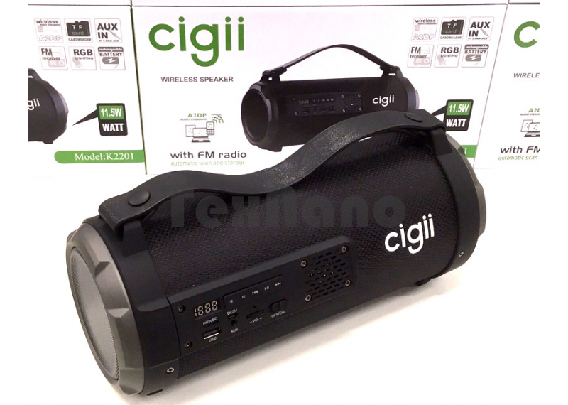 "K2201""Cigii"" Boombox Колонка с Bluetooth/USB/AUX/SD/FM"