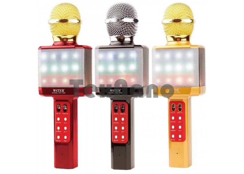 WS-1828 Беспроводной Bluetooth микрофон /SD/USB