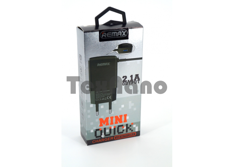 RM-MINI  Remax СЗУ Для Android 1USB 2.1 A Быстрая зарядка