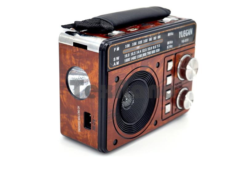 YG-033 Аккумуляторный Радиоприемник с USB/SD проигрывателем/LED