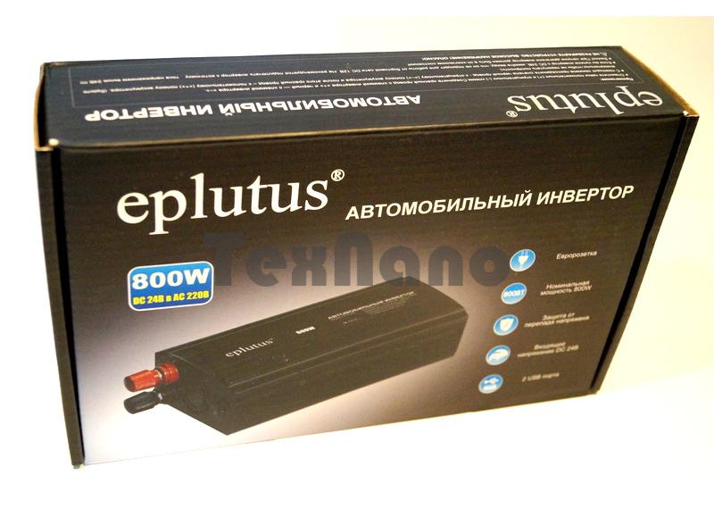 """PW-800W Автомобильный Инвертор +2USB """"EPLUTUS"""""""