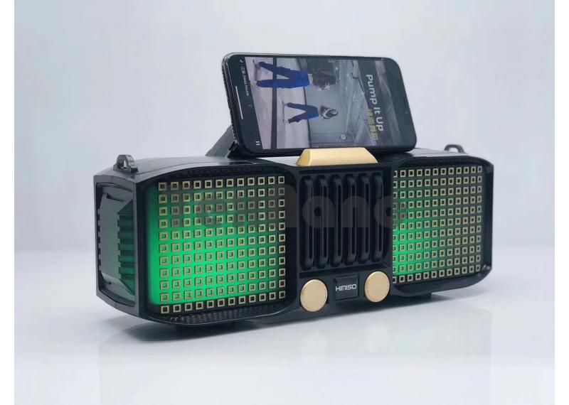 KMS-E86  Колонка с Bluetooth, USB/SD/FM/LED