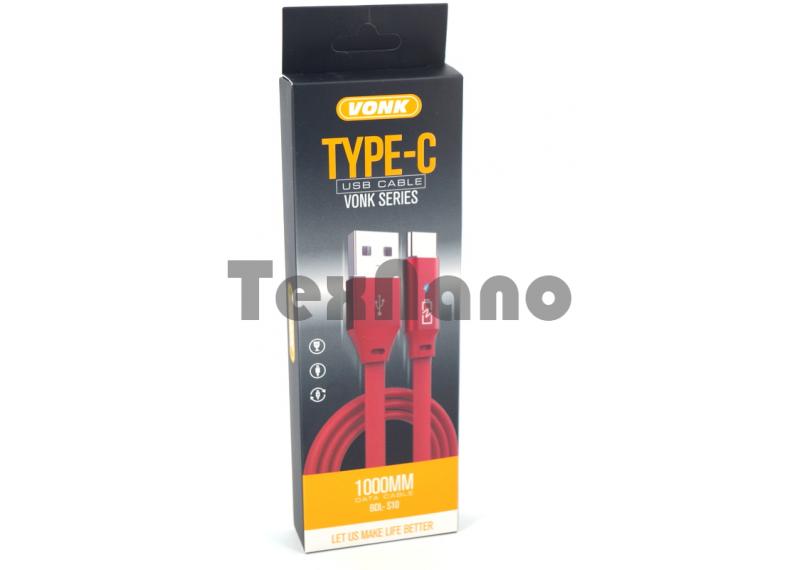 "BDL-S10 TYPE-C ""VONK"" USB Кабель с подсветкой ( Быстрая зарядка )"