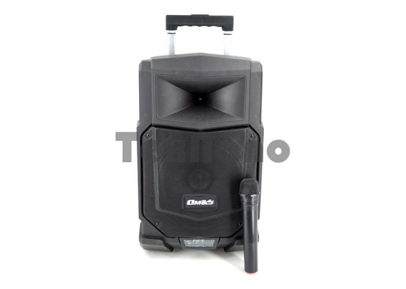"""A10-22  Колонка с Bluetooth/FM/SD/USB , На колесах с выдвижной ручкой. Динамик 10"""""""