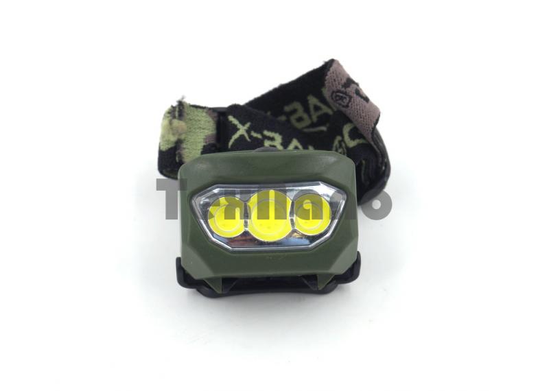 BL-933 COB Налобный фонарь ( работает от трех батареек ААА )