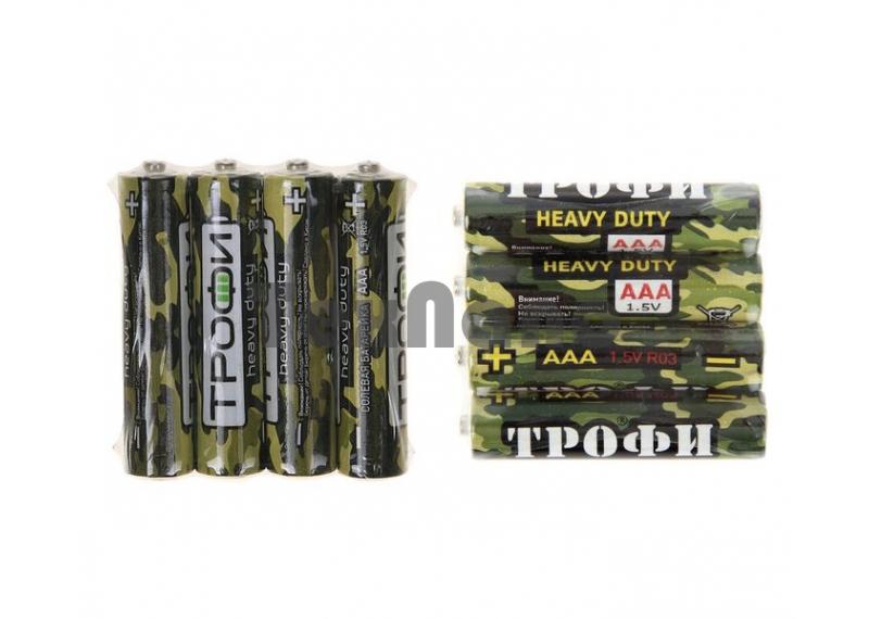 AAA R03-4S Батарейка Трофи Классика (60/1200)