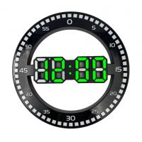 DS-3668L-4( зеленые)  Электронные настенные, настольные часы/будильник/температура/дата