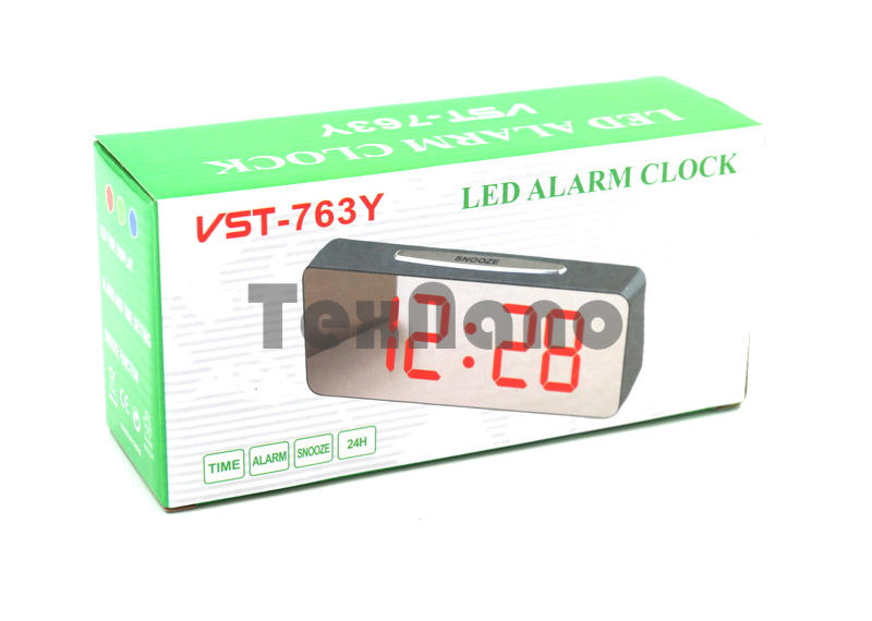 VST-763Y-1 Электронные сетевые часы ( цвет свечения красный)