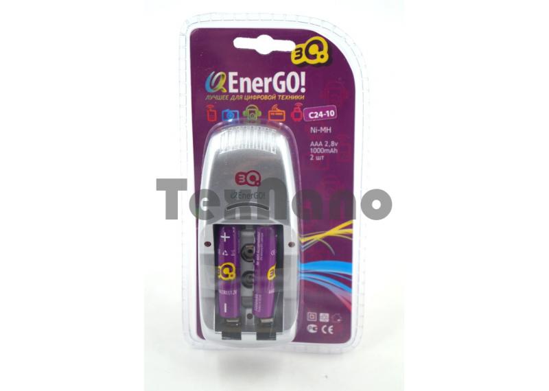 C24-10 Зарядное устройство для аккумуляторов +2 Аккумулятора AAA 2.8V 1000mAh