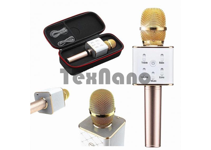 Q7 Беспроводной караоке микрофон со встроенной колонкой и  Bluetooth