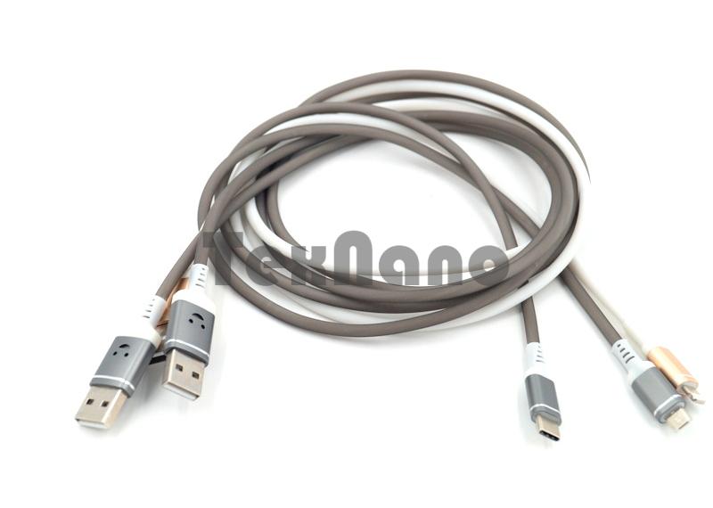 Светящийся USB Кабель TUPE-C ( встроенный микрофон, реагирует на звук)