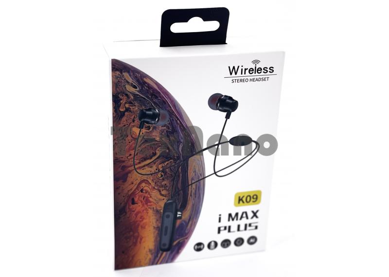 K09 Наушники с Bluetooth/TF ( Магнитные)