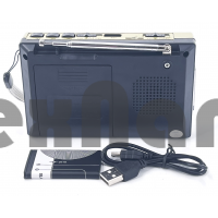 R-6622UT Аккумуляторный Радиоприемник с USB/SD/ Фонарик