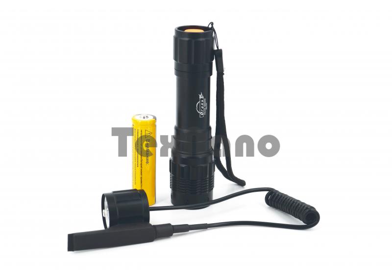 HQ-707-T6 Аккумуляторный ручной фонарь, с выносной кнопкой