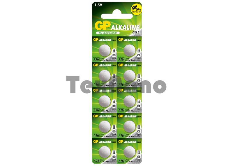 AG13 Батарейка GP A76-BC10  LR-44 (10/250/5000)
