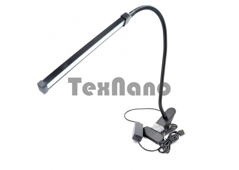 801 Настольная LED Лампа на прищепке/3 режима свечения/холодный/теплый/желтый