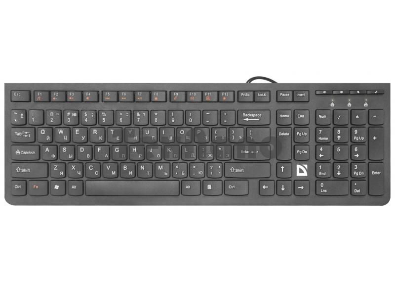 SM-530 Клавиатура проводная Defender UltraMate классическая USB 1.5м